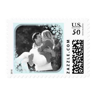 First Christmas Delicate Snowflakes Wedding Stamps