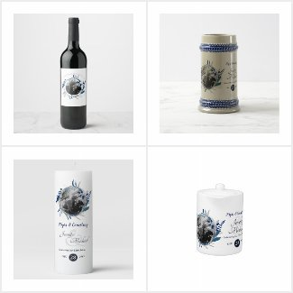 First Christmas Engaged or Married Photo Gifts