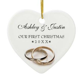 Wedding Rings Christmas Ornament