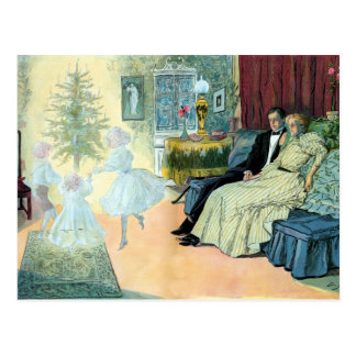 First Christmas eve; a vision of the future Postcard