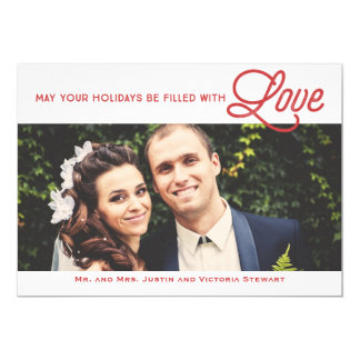 First Christmas Filled With Love Holiday Photo Card