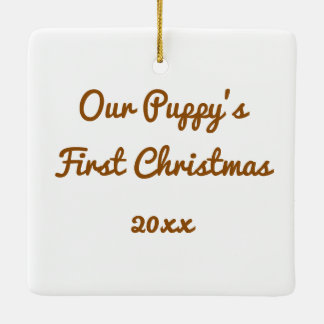 First Christmas for Dogs Photo Tree Ornament