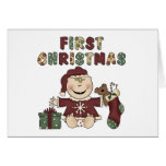 First Christmas Girl Tshirts and Gifts Cards