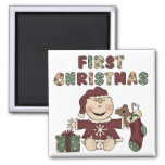 First Christmas Girl Tshirts and Gifts Magnets