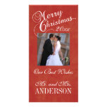 First Christmas Greeting Photo Cards Newlyweds