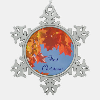 First Christmas Hanging Ornament Autumn leaves