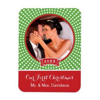 First Christmas Holiday Keepsake Photo Magnet