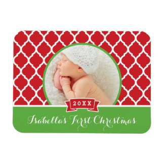 First Christmas Holiday Keepsake Photo Magnet