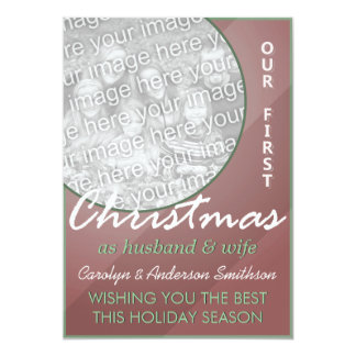 First Christmas Husband & Wife Red Green Card