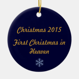 First Christmas in Heaven 2015 Double-Sided Ceramic Round Christmas Ornament