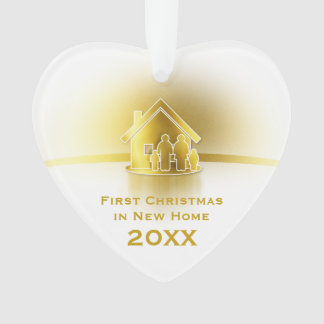 First Christmas in New Home 2018 | Family Photo Ornament