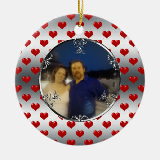 First Christmas in New Home Custom Photo Ceramic Ornament