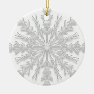 First Christmas in New Home White Snowflake Ceramic Ornament