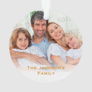 First Christmas in New Home   Your Family Photo Ornament