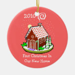 First Christmas In Our New Home 2010 (Gingerbread) Christmas Tree Ornament