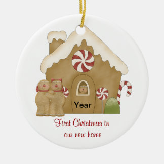 First Christmas in our New Home Ceramic Ornament