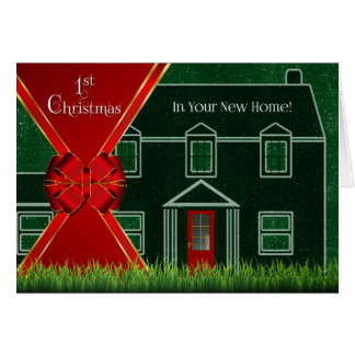 First Christmas in Your New Home - Red and Green Card