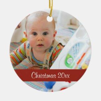 First Christmas Keepsake Custom Photo Ornament