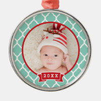 First Christmas Keepsake Photo Holiday Ornament