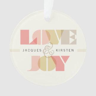 First Christmas Love & Joy Holiday Photo Ornament