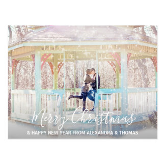 First Christmas Married Engaged NewYear   PHOTO Postcard