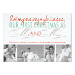 First Christmas Mr. & Mrs. Holiday Photo Greetings 4.5x6.25 Paper Invitation Card