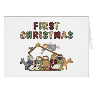 First Christmas Nativity Christmas Card