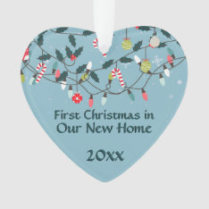 First Christmas New Home Vintage Christmas Lights Ornament at Zazzle