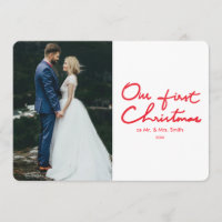 First Christmas | Newlyweds Photo Christmas card