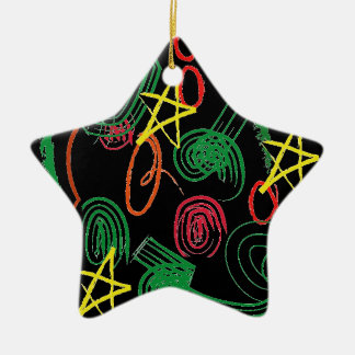 First Christmas Double-Sided Star Ceramic Christmas Ornament