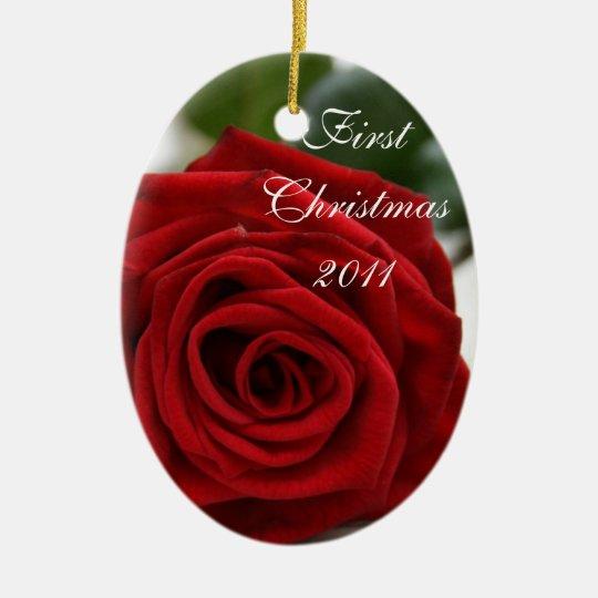 First Christmas/Photo Ceramic Ornament
