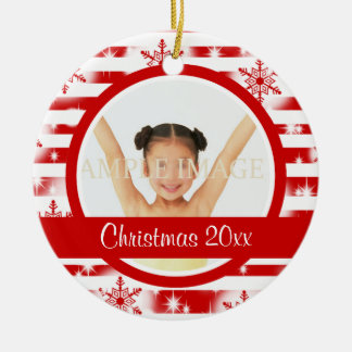 First Christmas photo personalize Ceramic Ornament