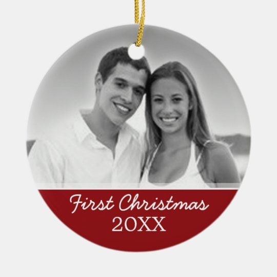 First Christmas Photo - Single Sided Ceramic Ornament
