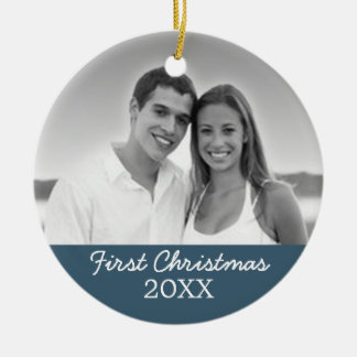 First Christmas Photo - Single Sided Christmas Tree Ornaments
