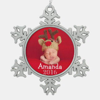 First Christmas Photo Snowflake Holiday Decoration