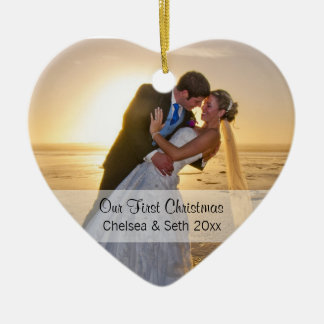 First Christmas Photo Template Ceramic Ornament