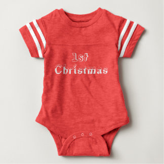 First Christmas Red One Piece Baby Bodysuit