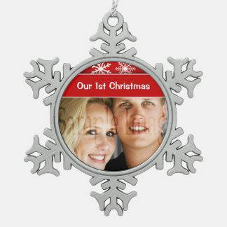 First Christmas snowflake holidays Ornaments