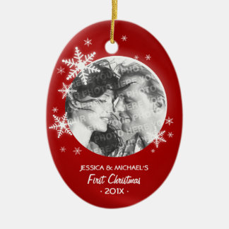 First Christmas Snowflakes Photo ornament