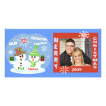 First Christmas Snowmen Couples Photo Card