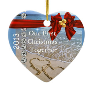 First Christmas TOGETHER BEACH 2013 ORNAMENT