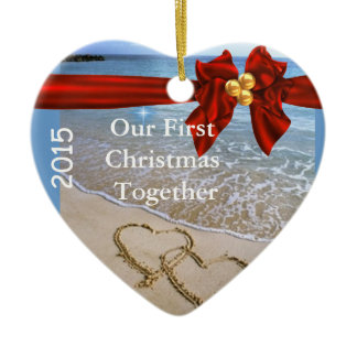 First Christmas TOGETHER BEACH 2015 ORNAMENT bling