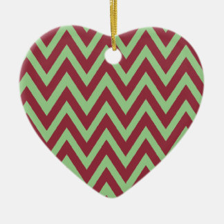 First Christmas together chevron Ceramic Ornament