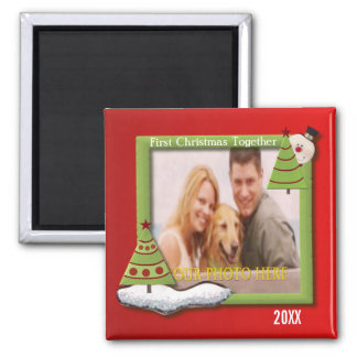 First Christmas Together Dated Personalized Magnet