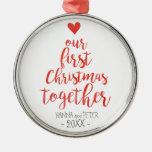 First Christmas together elegant ornament