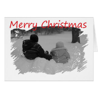 First Christmas Together - Kids In Snow Card