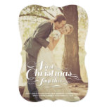 First Christmas Together Married Holiday Greetings 5x7 Paper Invitation Card