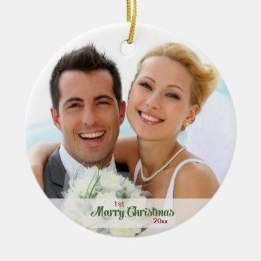 First Christmas Together- Newlyweds Ceramic Ornament
