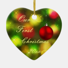 first christmas together ornament at Zazzle