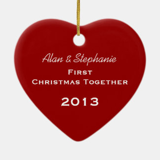 First Christmas Together Red Snowflake Ornament